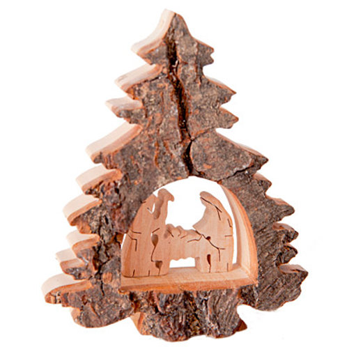 Christmas Tree with Nativity Scene