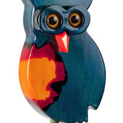 Blue Owl 1 Garden Ornament