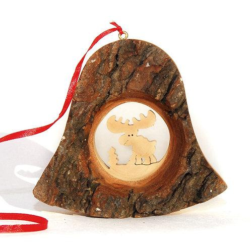 Bark Bell with Reindeer