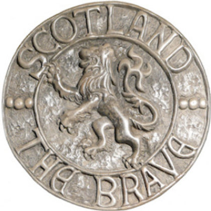 "Rampant Lion of Scotland (Natural) - 10"" Across"