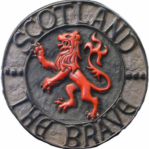 "Rampant Lion of Scotland (Red) - 10"" Across"