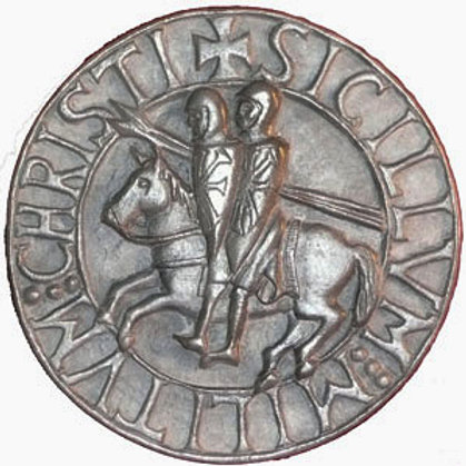 "Seal of the Knights Templar - 7"" Across"