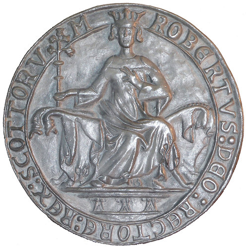 "Seal of King Robert the Bruce (Obverse) - 7"" Across"