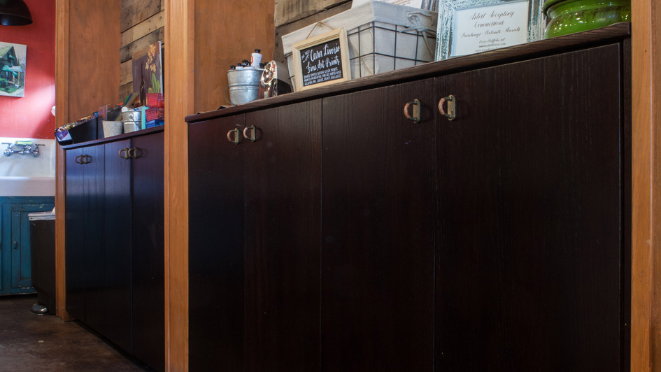 Espresso Stained Oak Cabinets