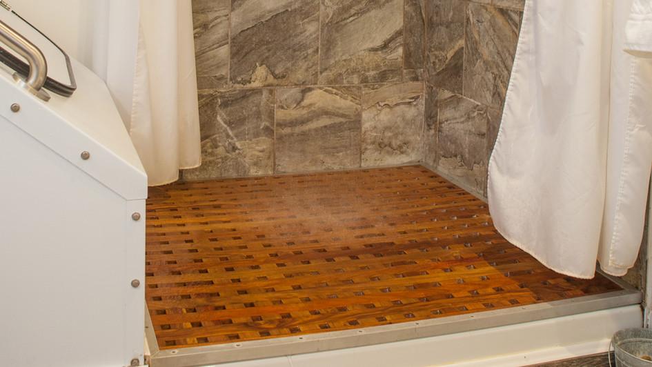 Canary Wood Shower Floor