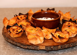 Fiery Buffalo Chicken Wontons for Game Day