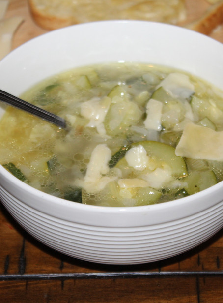 Zucchini Soup with Croutons   Eataly Challenge