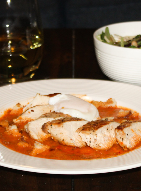 Poached Egg & Pepper Chicken   Eataly Challenge