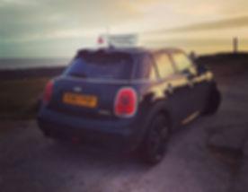 #minicooper #minihatch #ilovemymini #porthcawl #spring #backtoblack #drivingschool