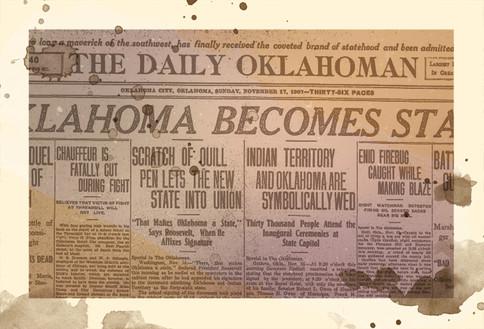 1889 - Object: The Oklahoman Newspaper