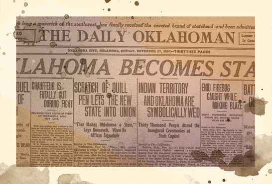 1889 - Object: The Oklahoman Newspaper