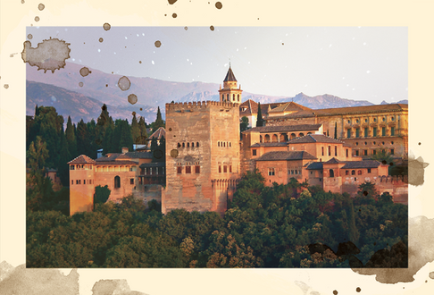 1300:  Place - The Alhambra in Granada, Spain