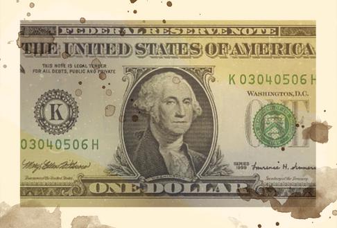 1860's:  Object - One dollar bill
