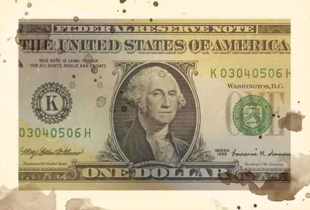 1860's:  Object - One dollar bill
