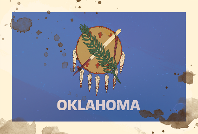 1920's - Object:  State Flag of Oklahoma