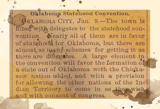 1907 - Event:  Oklahoma statehood