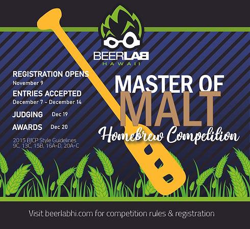 Beer Lab HI Homebrew Competition Malts -