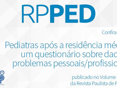 Pediatras após a residência: um questionário sobre dados e problemas pessoais/profissionais