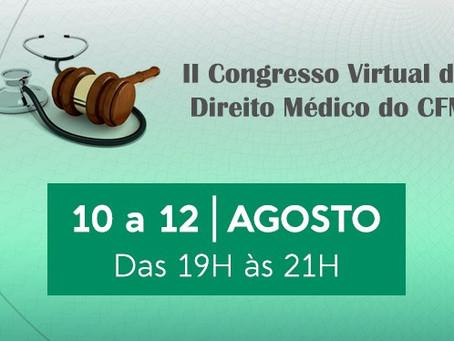 II Congresso Virtual do CFM vai debater judicialização da saúde e autonomia médica