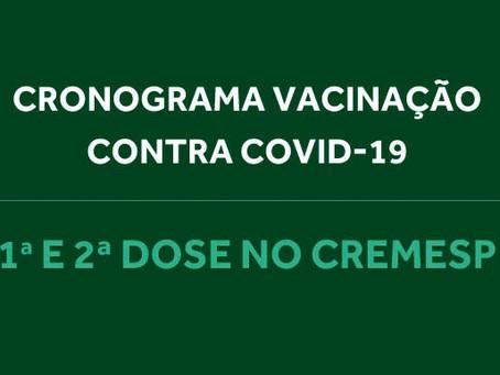 Cremesp divulga cronograma de vacinação para semana de 8 a 12 de março