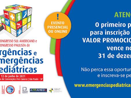 Congressos Paulista e Sul-americano de Urgências e Emergências Pediátricas