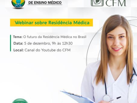 Webinar do CFM vai debater as perspectivas da Residência Médica
