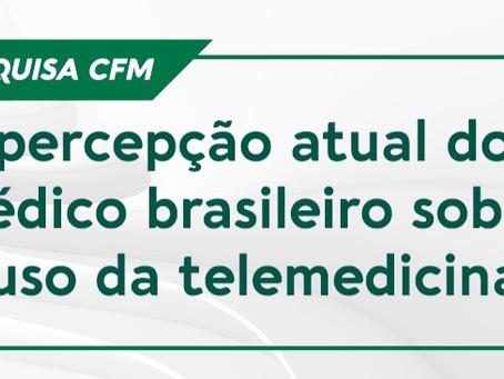 CFM faz pesquisa sobre a percepção atual dos médicos a respeito do uso da telemedicina no Brasil