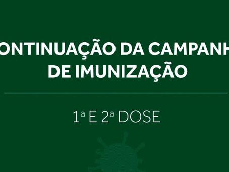 Vacinação de médicos a partir dos 47 anos e médicas gestantes, lactantes e puérperas 04/05/2021