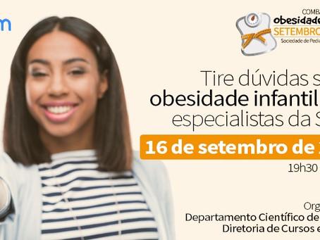 LIVE: Tire dúvidas sobre obesidade infantil com especialistas da SPSP – Setembro Laranja