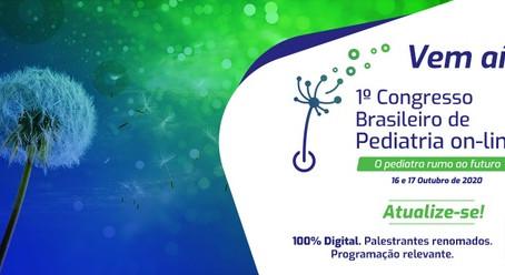 1º Congresso Brasileiro de Pediatria On-line já está com inscrições abertas
