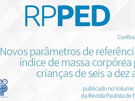 RPPED: novos parâmetros de referência do índice de massa corpórea para crianças de seis a dez anos