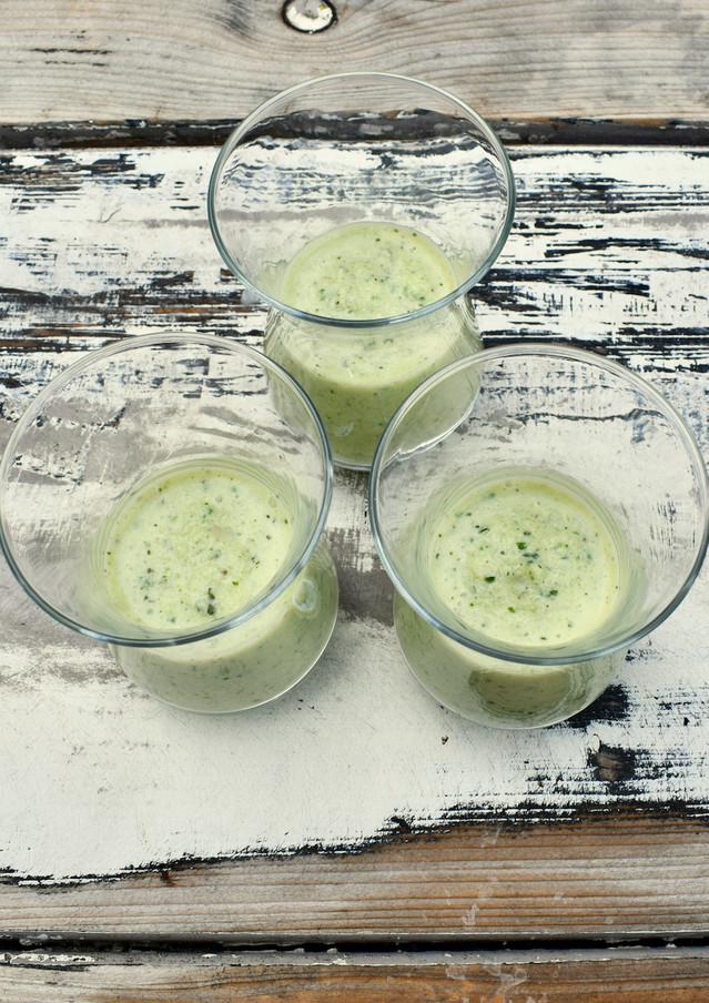 Komkommer Gazpacho met Appel, Munt en Yoghurt