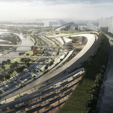 Master planning Inspired by Caligraphy l Waterfront Mixed-use project
