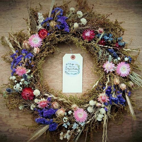 "Dried Floral Wreath 12"""