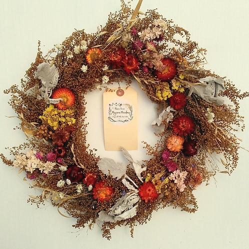 "12"" Dried Floral Wreath"