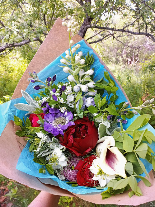 Large Paper Wrapped Bouquet