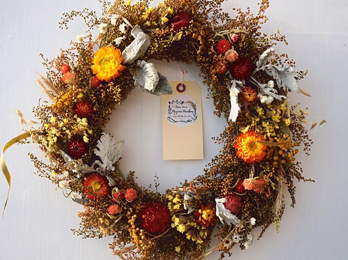 "12"" Dried Floral Wreath"