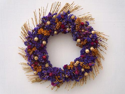 "13"" Dried Floral Wreath"