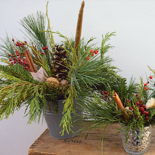 Holiday Centerpiece in Grey