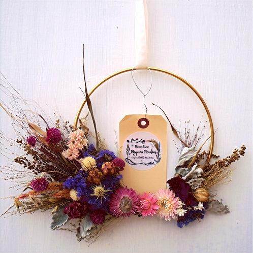 """7"""" Brass Floral Wreath"""