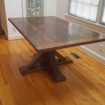 Trestle Base Reclaimed Table