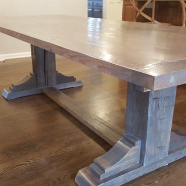 Trestle Base Reclaimed Harvest Table