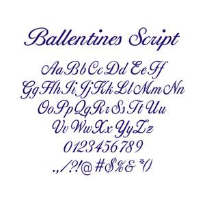 BALLENTINES SCRIPT