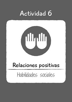 Aprendemos a cooperar: RELACIONES POSITIVAS.