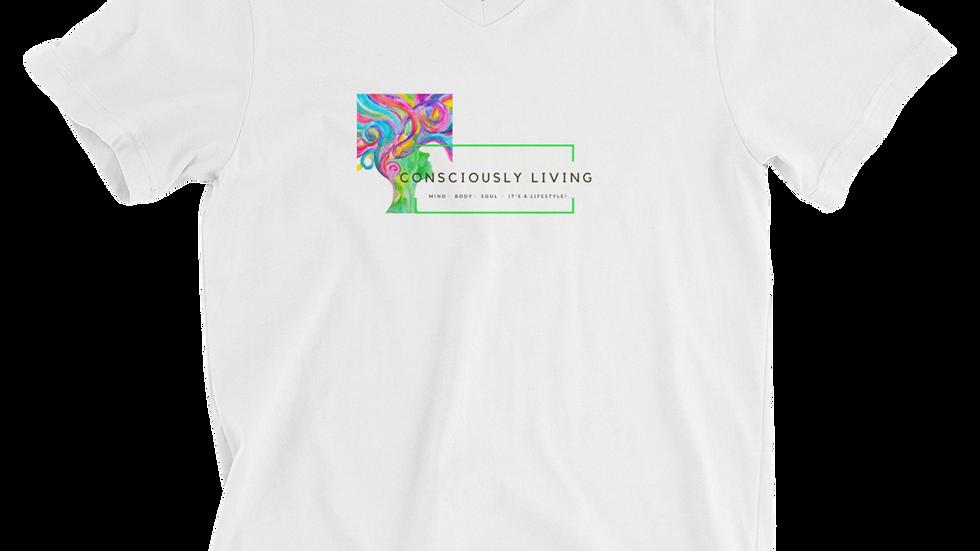 Conscious Living Unisex Short Sleeve V-Neck T-Shirt