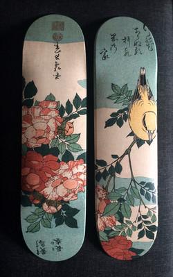 Bird & Roses Hokusai