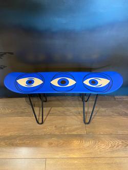 "Tabouret ""Blue circle eye"""