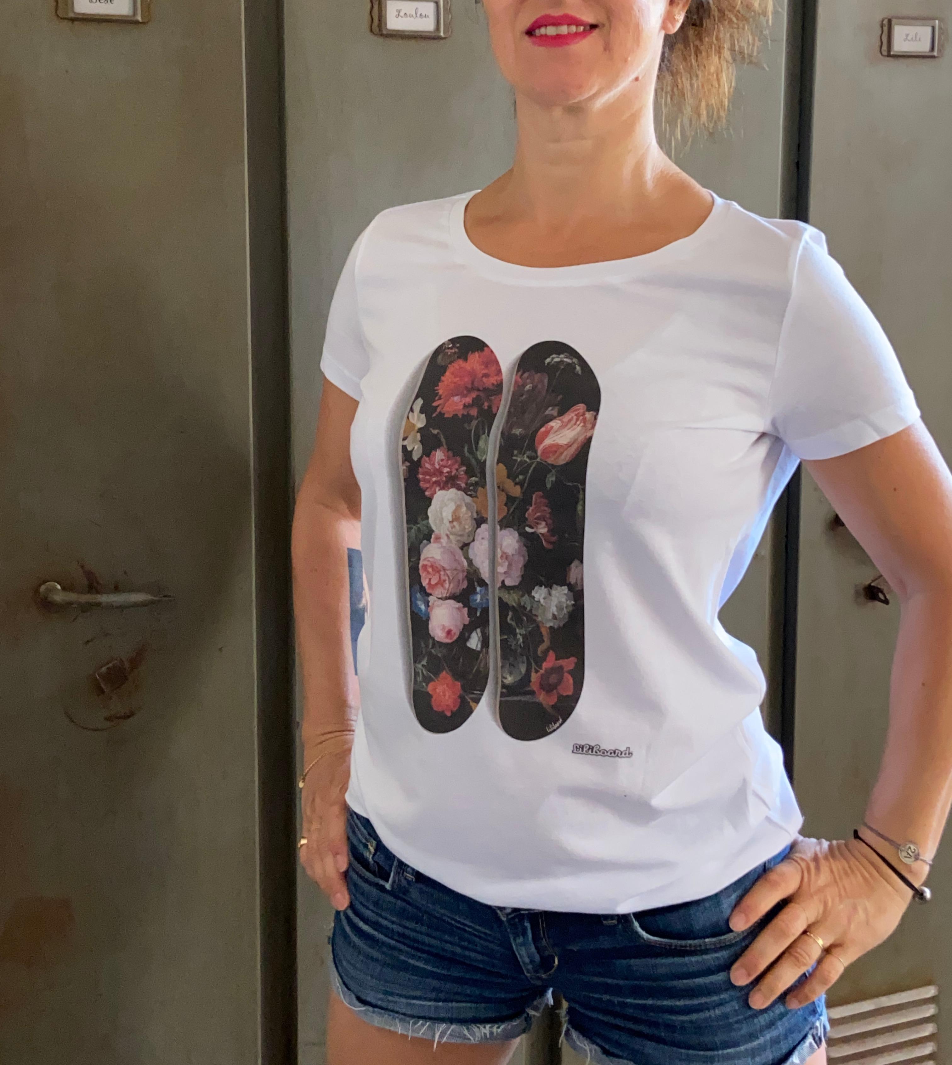 Tee shirt Flowers Femme