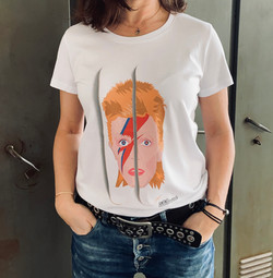 Tee shirt David Bowie Femme