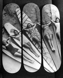Surfeuses N&B